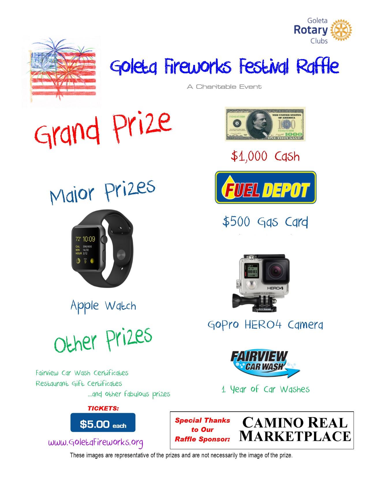 Raffle Prizes Flyer 15 Prize Flyer